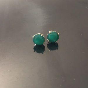 Fossil green earrings
